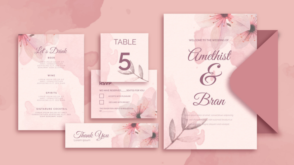 Theme-Based Stationery Invitation Design